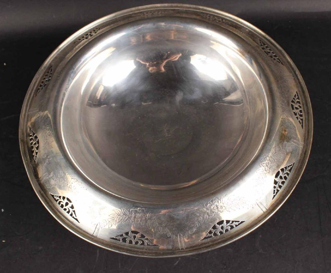 American Sterling Silver Footed Bowl - 4