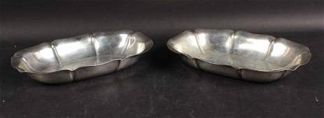 Pair of DominickHaff Sterling Silver Bread Trays