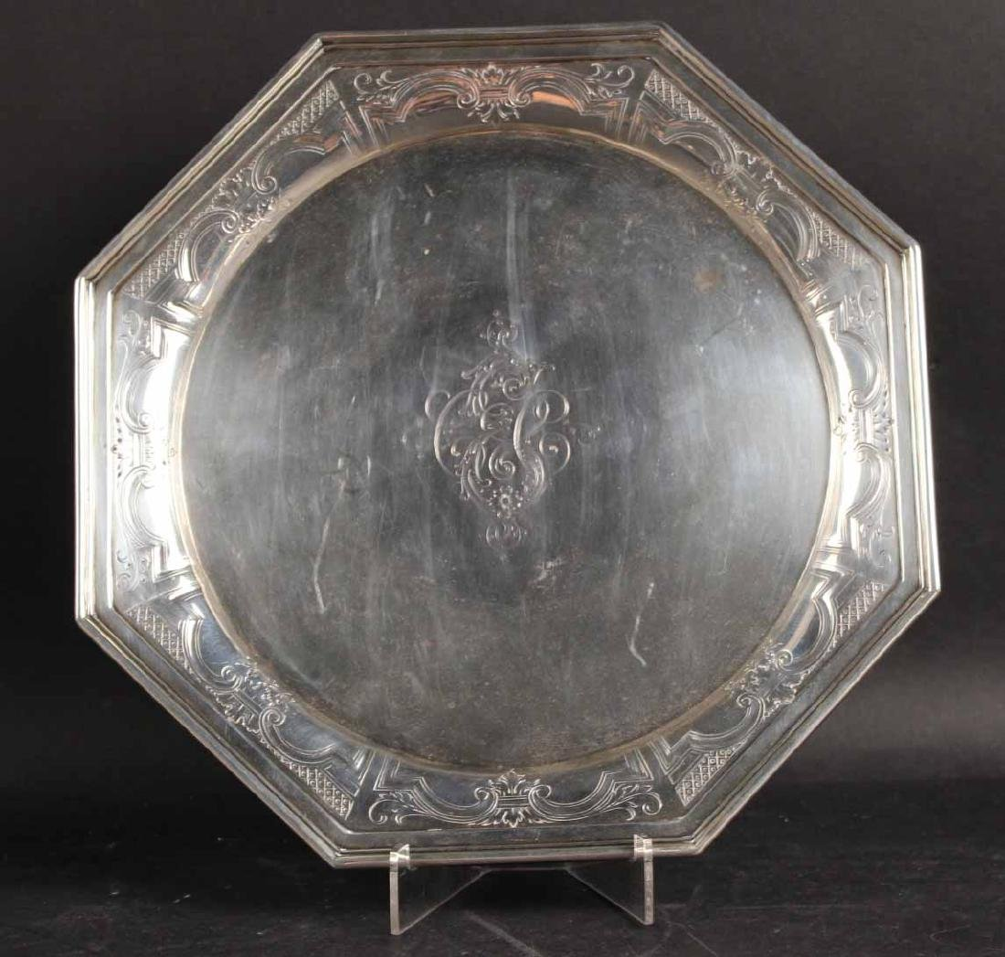 Dominick & Haff Sterling Silver Cake Plate
