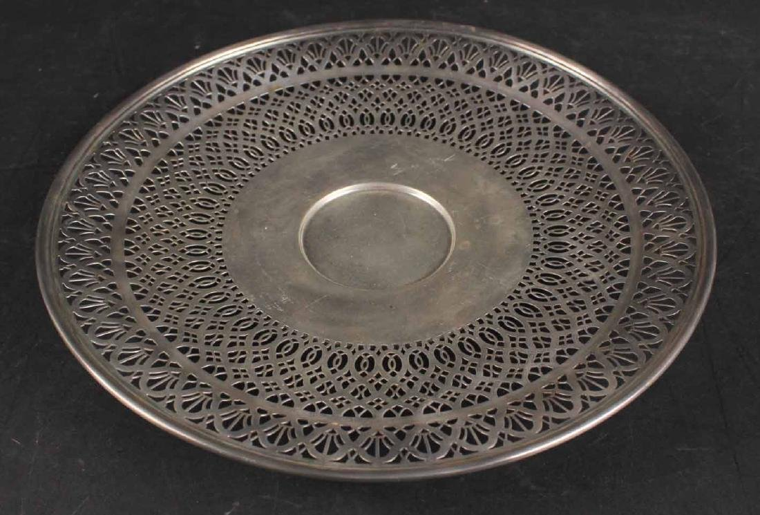 Tiffany & Co Makers Sterling Silver Circular Tray