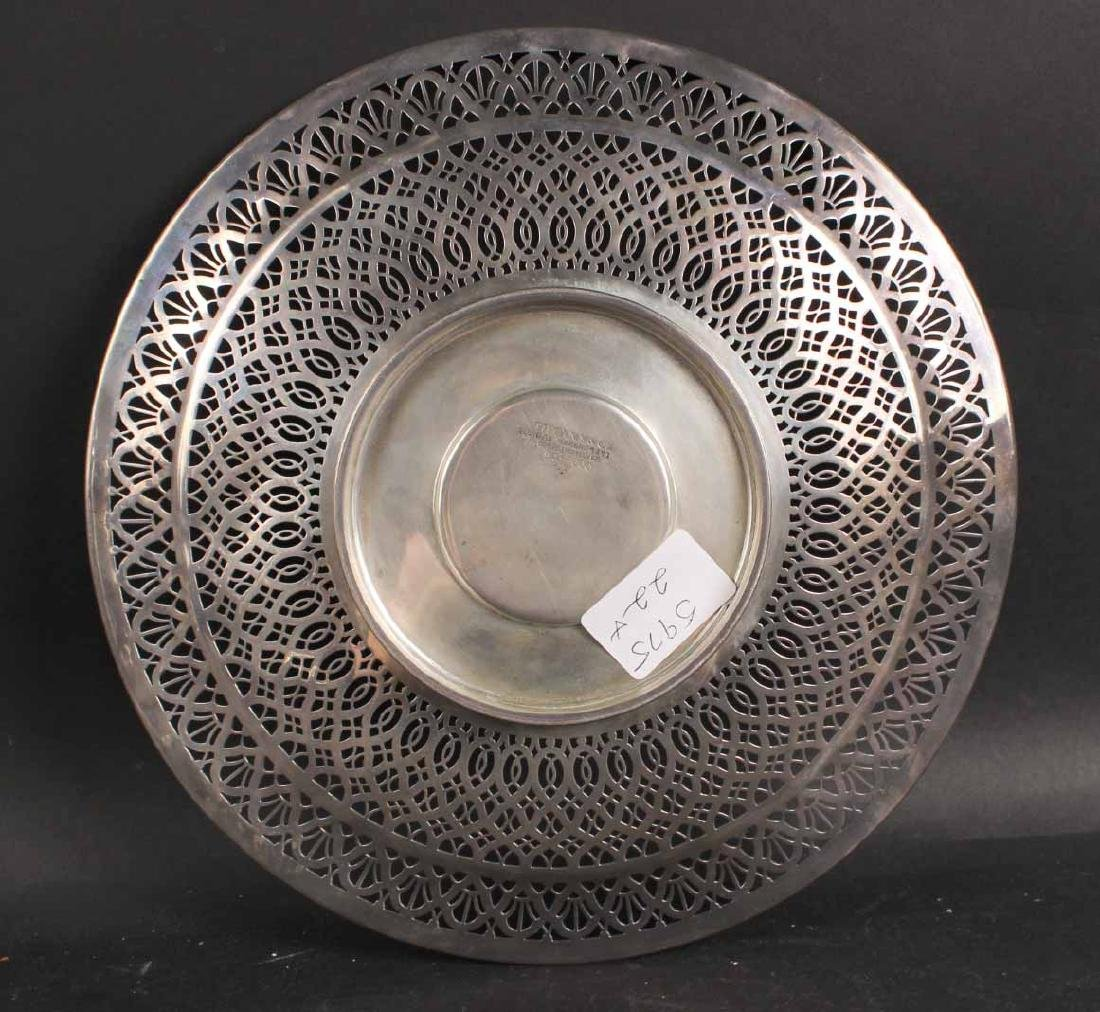 Tiffany & Co Makers Sterling Silver Circular Tray - 3