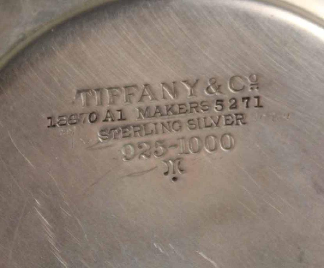 Tiffany & Co Makers Sterling Silver Circular Tray - 5