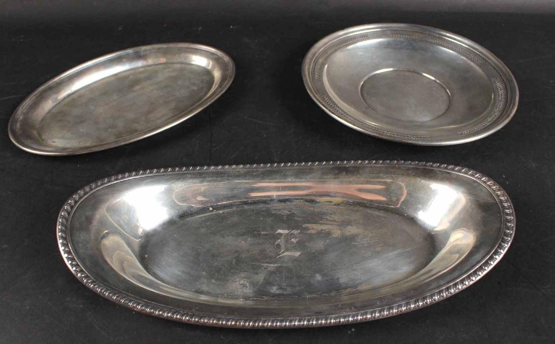 Matthews Sterling Silver Oval Bread Tray