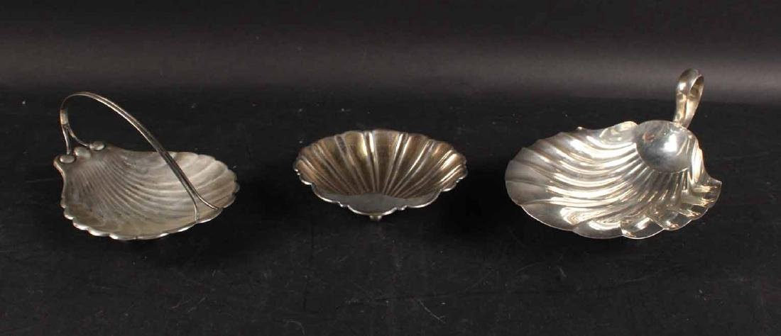 Three American Sterling Silver Shell Form Dishes