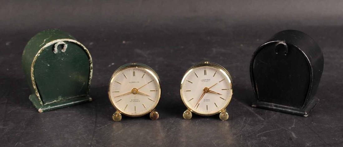 Two Travel Alarm Clocks