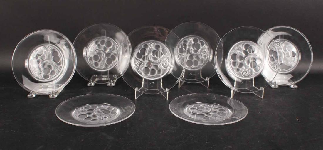 Eight Lalique Dessert Plates