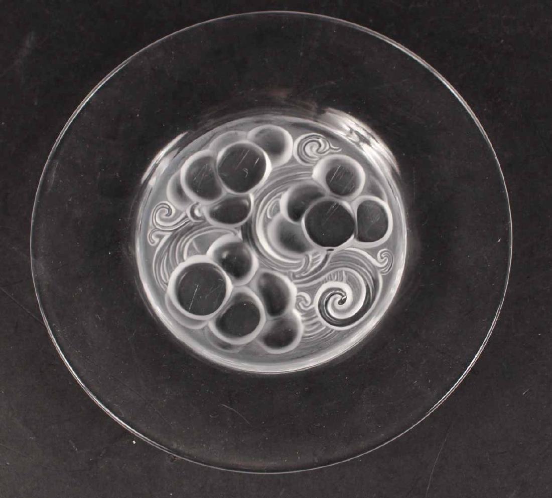 Eight Lalique Dessert Plates - 2