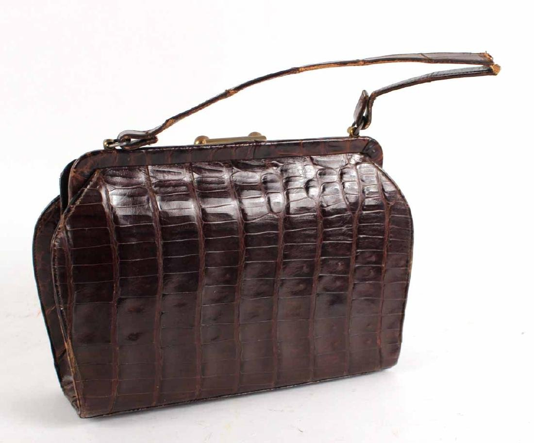 Vintage Crocodile Handbag - 4