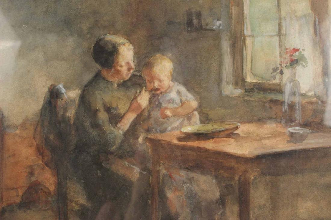 Watercolor, Interior Scene, Jacobus S.H. Kever - 3
