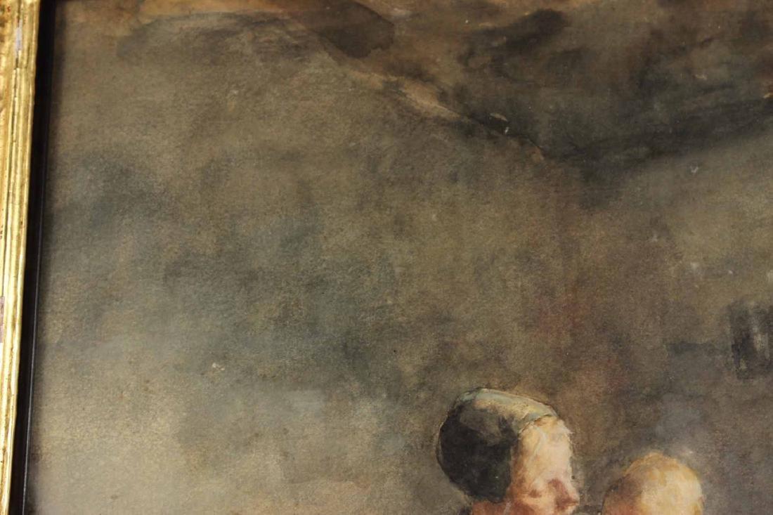 Watercolor, Interior Scene, Jacobus S.H. Kever - 5