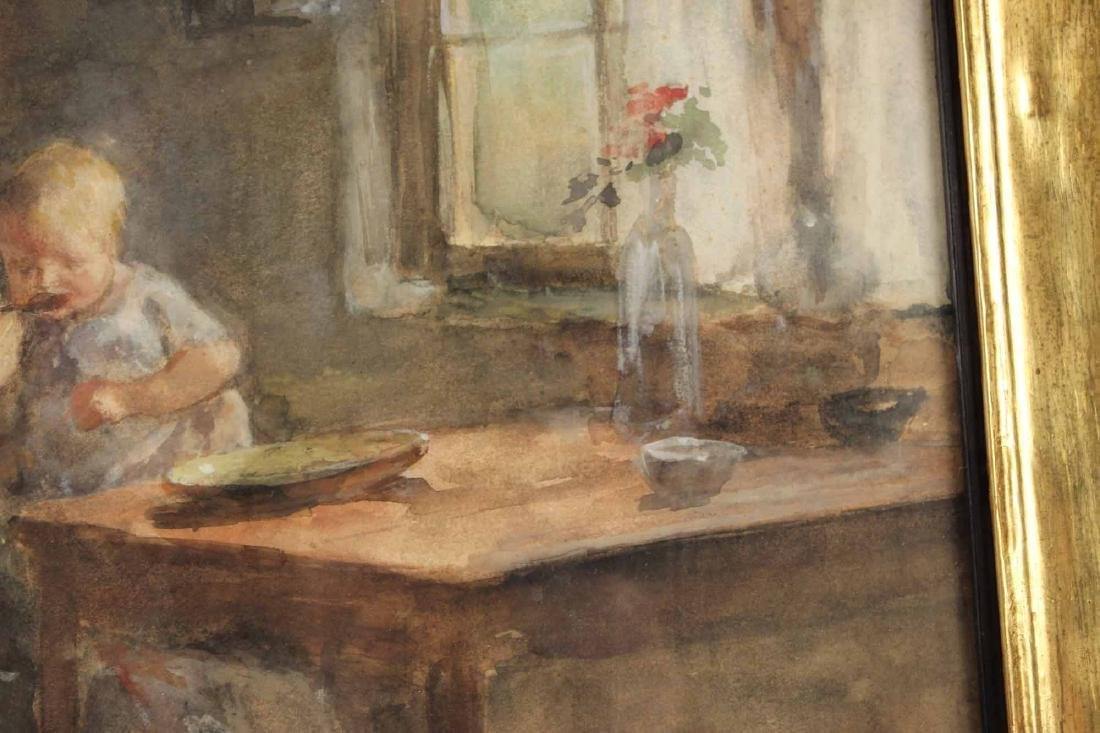Watercolor, Interior Scene, Jacobus S.H. Kever - 6