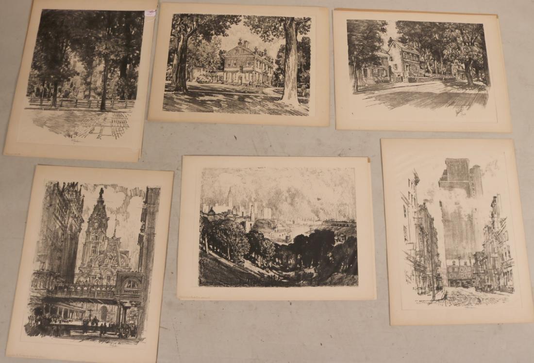 Six Assorted Prints, Joseph Pennell