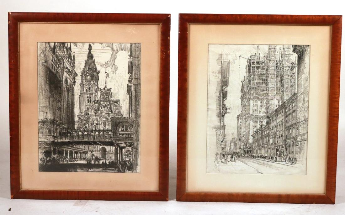 Five Framed Assorted Prints, Joseph Pennell - 7