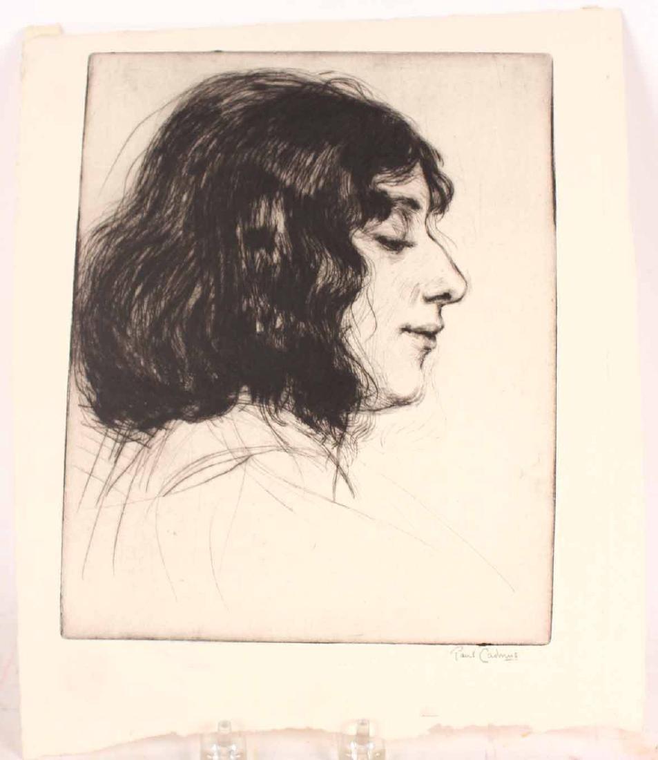 Engraving, Profile of a Woman, Paul Cadmus