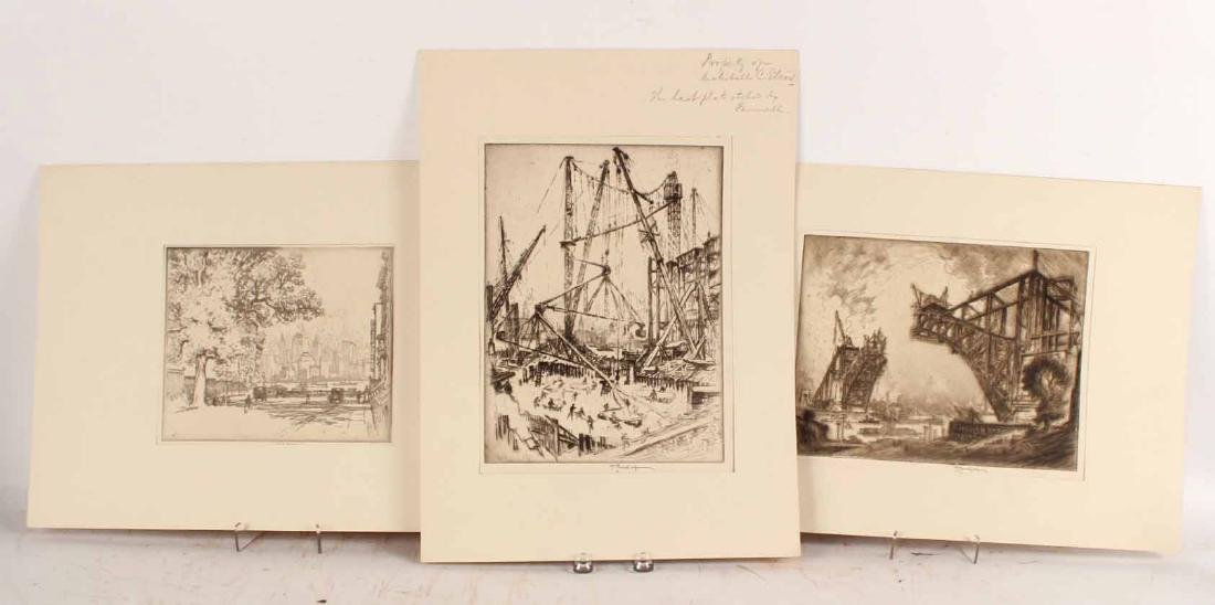 Three Engravings By Joseph Pennell