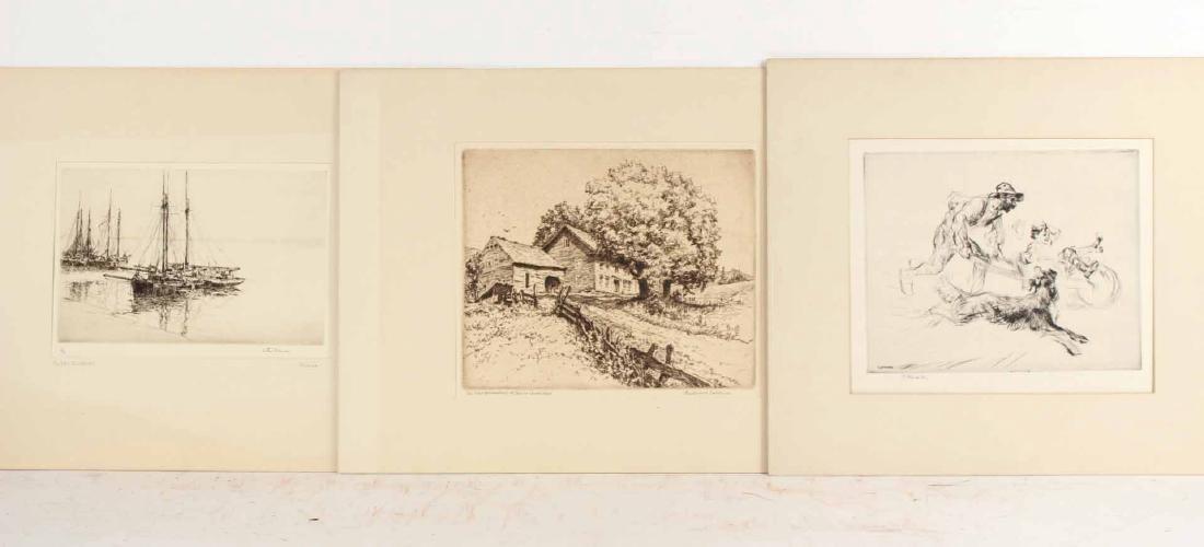 "Engraving Titled ""Joy Ride"" By Edmund Blampied"