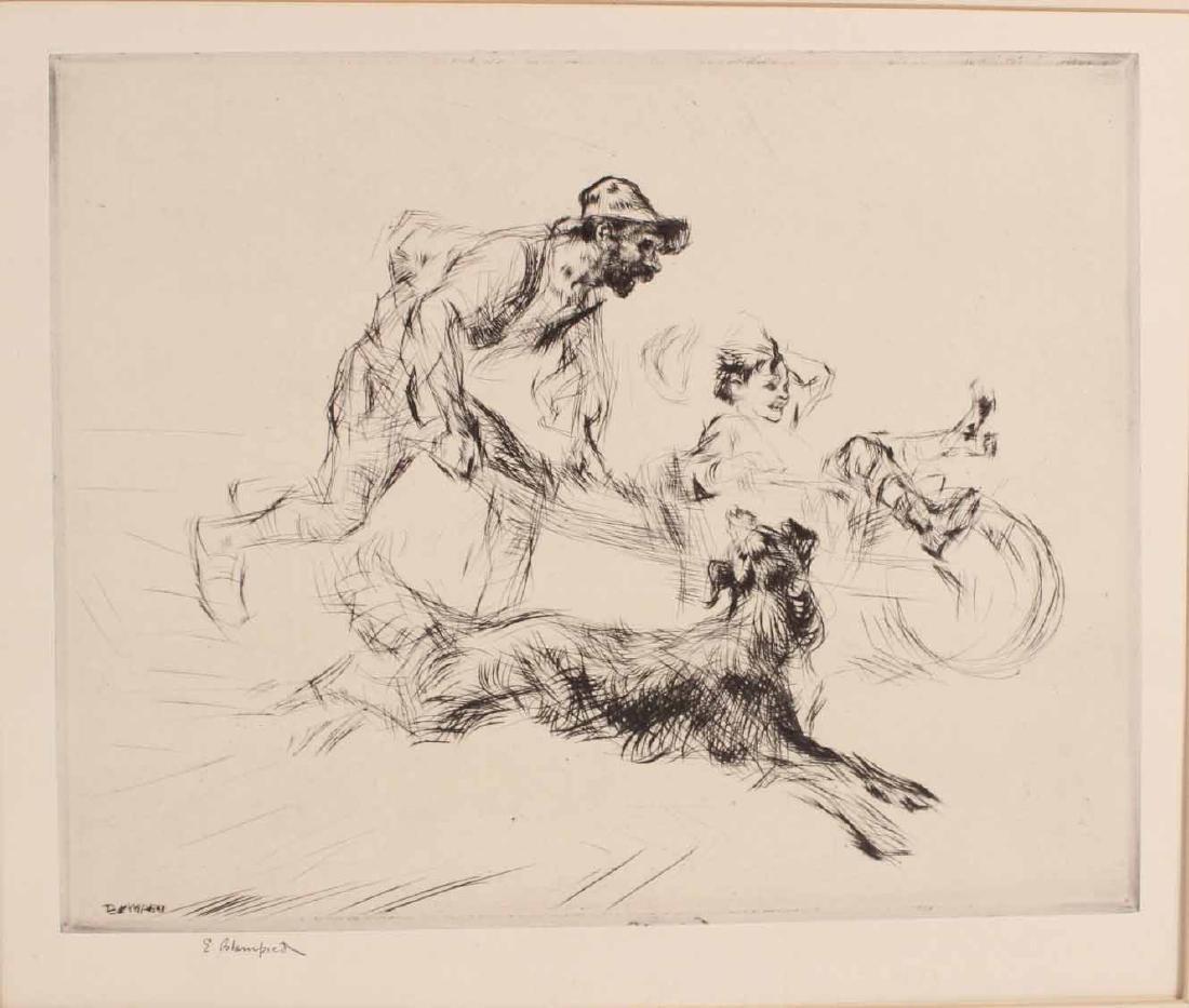 "Engraving Titled ""Joy Ride"" By Edmund Blampied - 2"