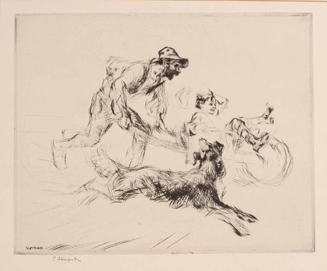 "Engraving Titled ""Joy Ride"" By Edmund Blampied - 3"