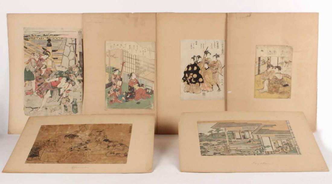 Six Japanese Woodblock Prints