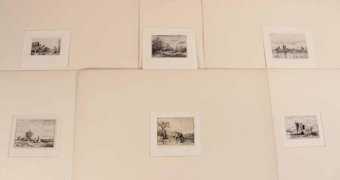 "Two Etchings ""Farm Scenes"" Maurice Taquoy"