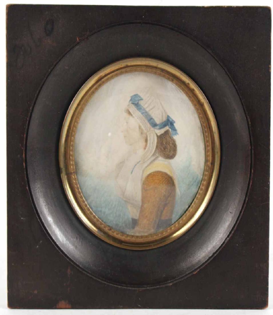 Portrait Miniature of Mrs. Nancy M. Handy