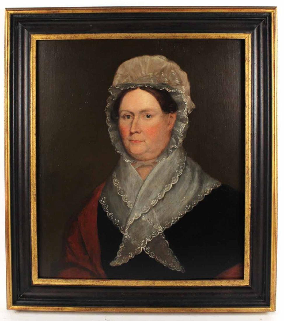 Portrait of a Lady Dressed in Lace-Edged Bonnet