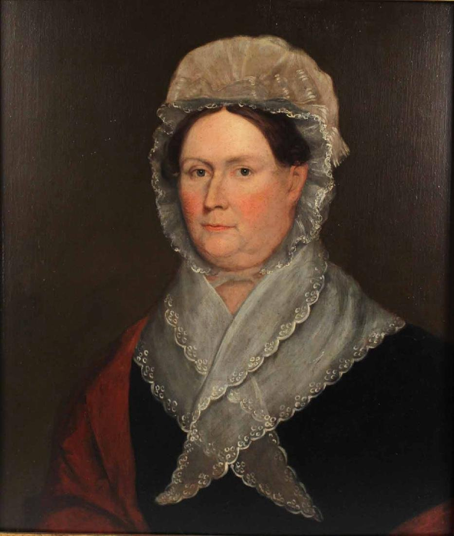 Portrait of a Lady Dressed in Lace-Edged Bonnet - 2