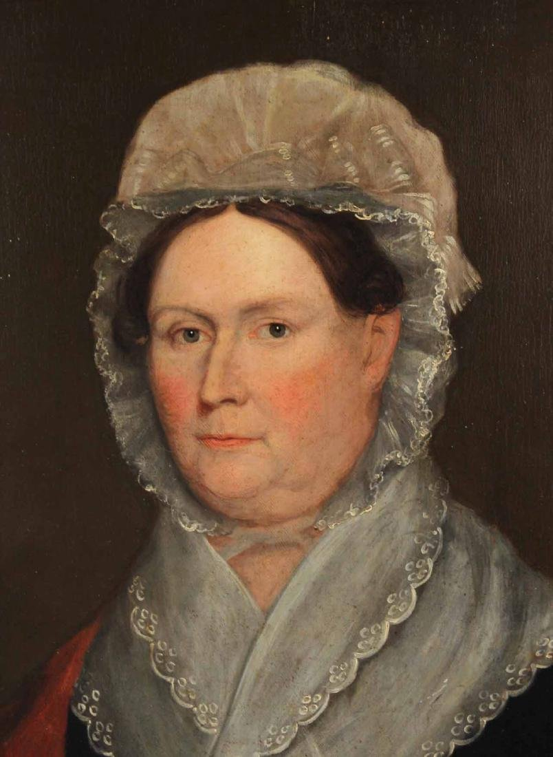 Portrait of a Lady Dressed in Lace-Edged Bonnet - 3