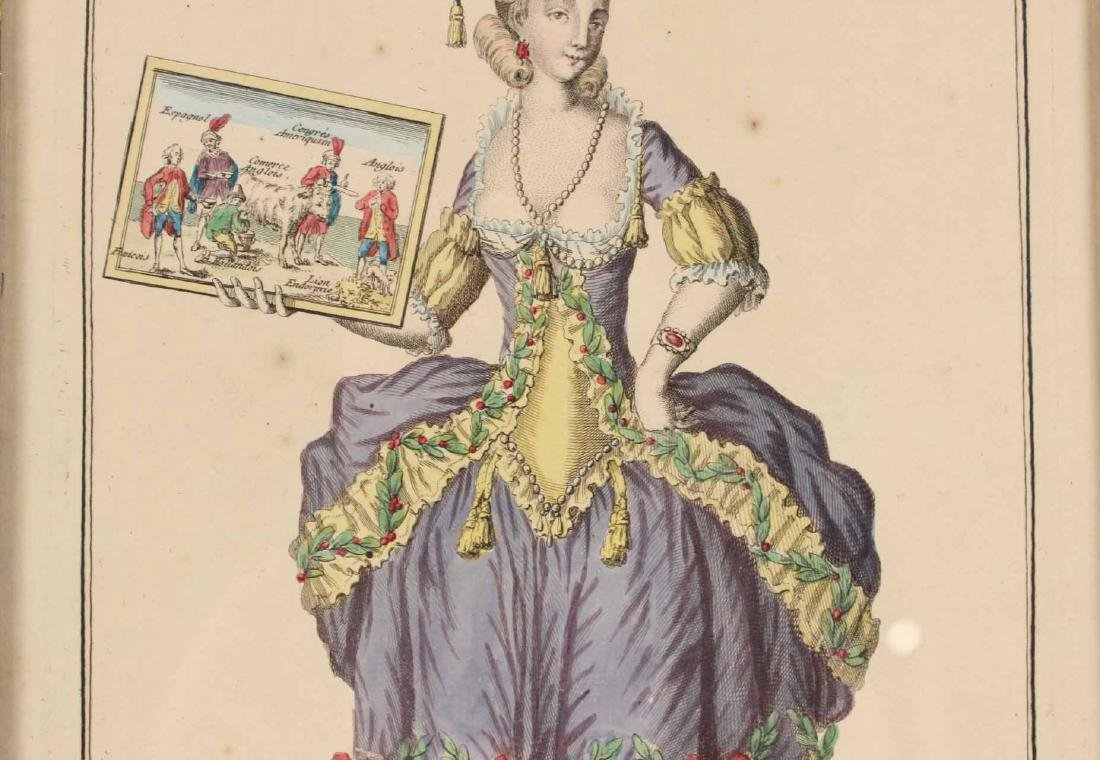 Hand-Colored Engraving, After L. Berttaet - 6