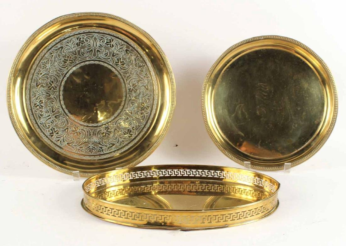 Three Brass Trays