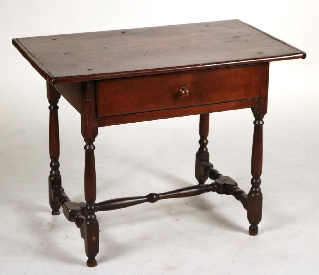 William and Mary Maple and Pine Tavern Table