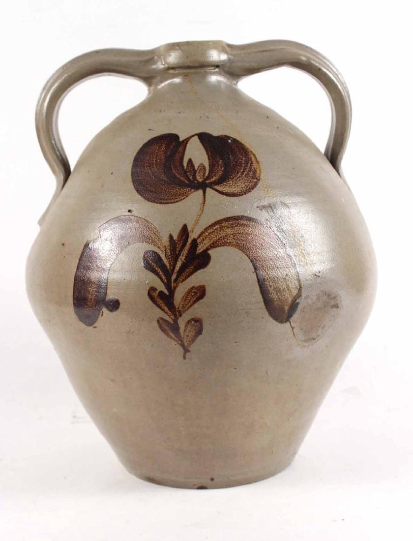 Ochre-Decorate Salt-Glazed Stoneware Jug