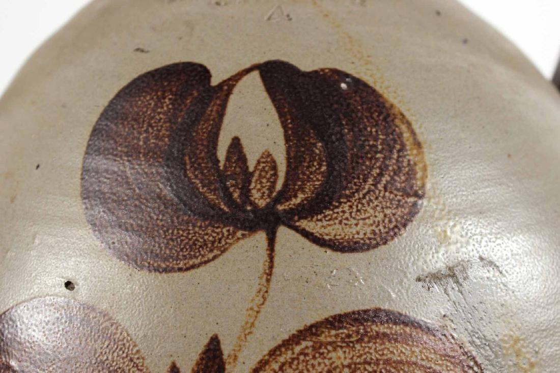 Ochre-Decorate Salt-Glazed Stoneware Jug - 3