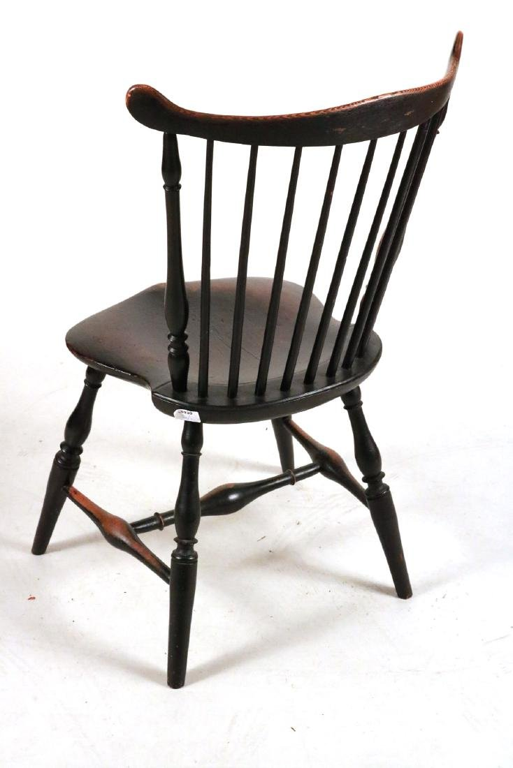 Pair of Black-Painted Fan-Back Windsor Chairs - 6