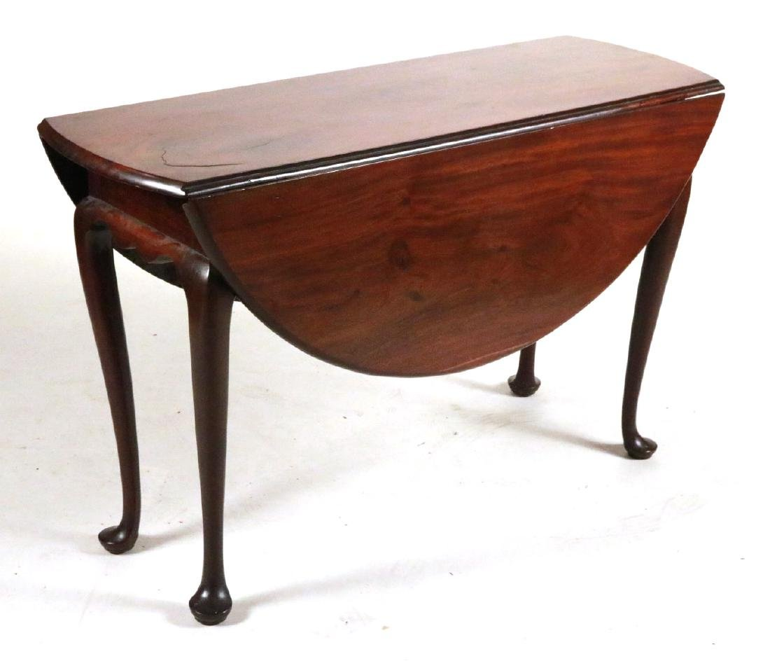 Queen Anne Mahogany Drop-leaf Dining Table