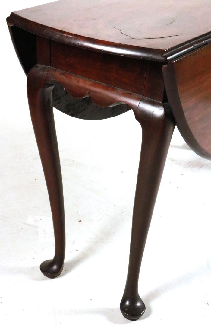 Queen Anne Mahogany Drop-leaf Dining Table - 2