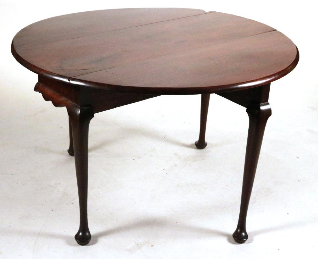 Queen Anne Mahogany Drop-leaf Dining Table - 4