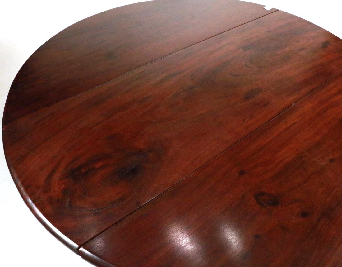 Queen Anne Mahogany Drop-leaf Dining Table - 5