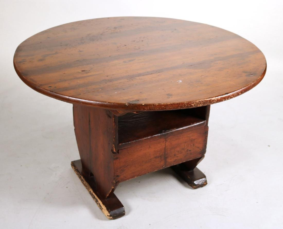 Queen Anne Maple Hutch Table