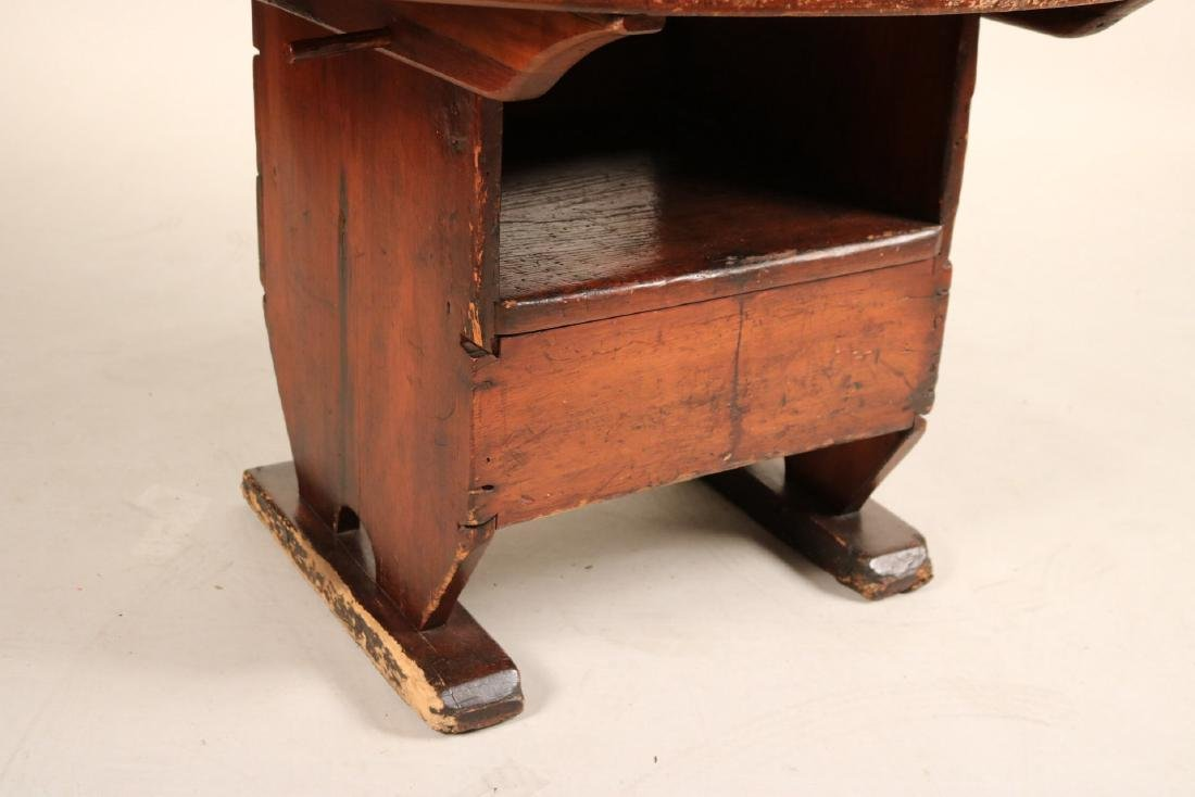 Queen Anne Maple Hutch Table - 4