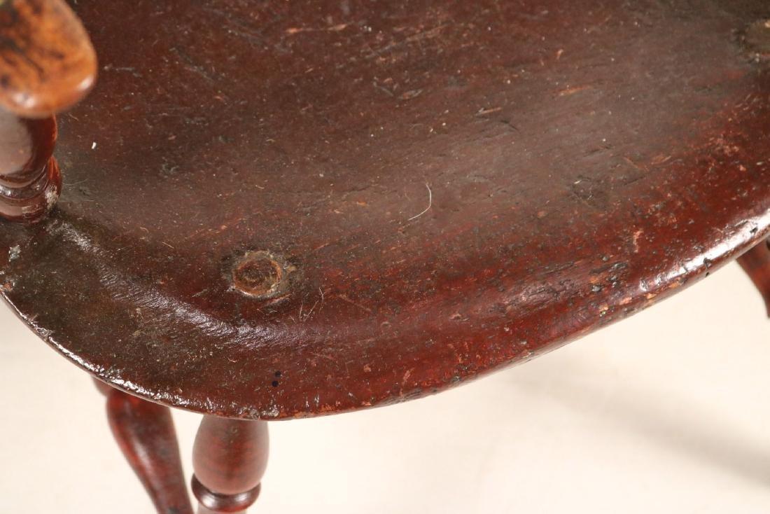 Brown-Painted Sack-Back Windsor Armchair - 3