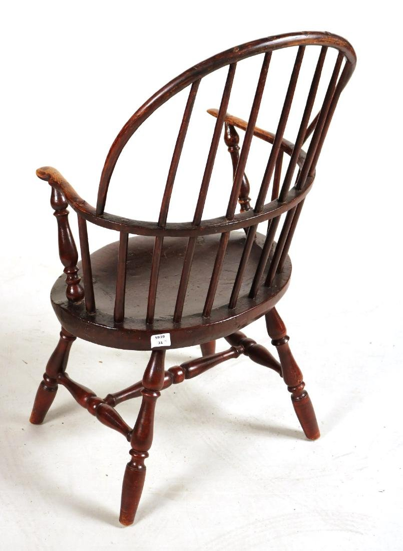 Brown-Painted Sack-Back Windsor Armchair - 6