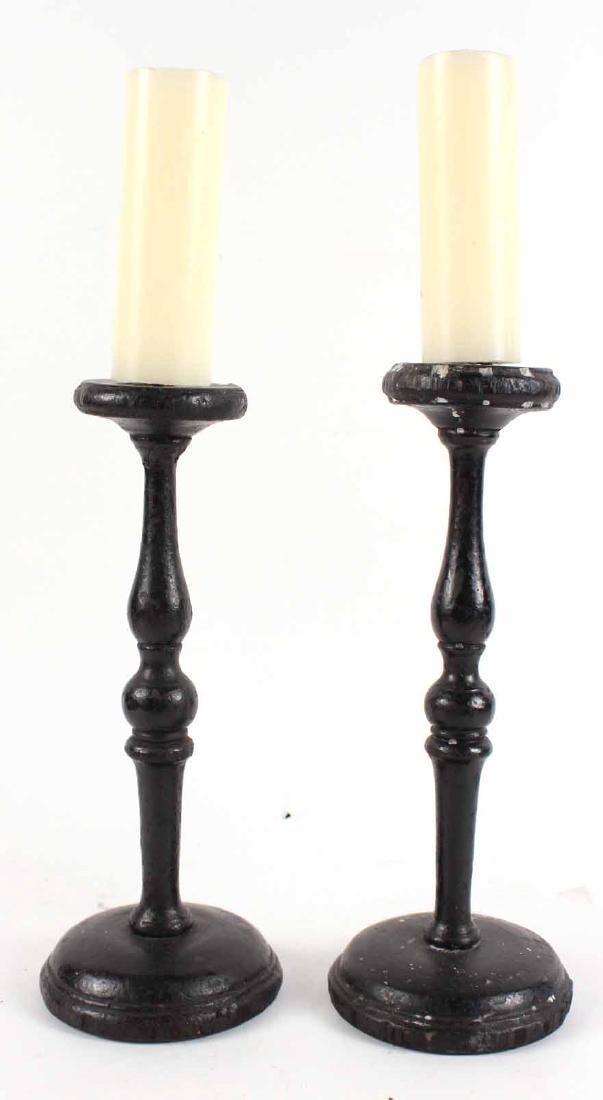 Pair of Wooden Pricket Sticks