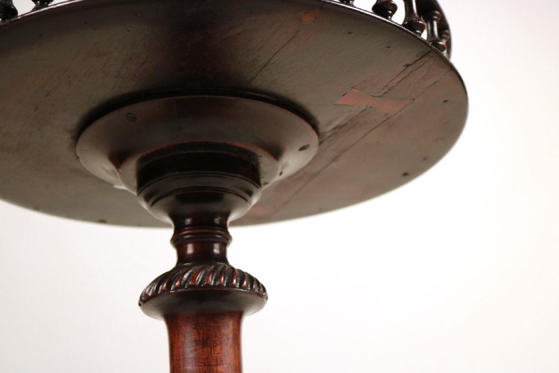 George III Carved Mahogany Wine Stand - 5