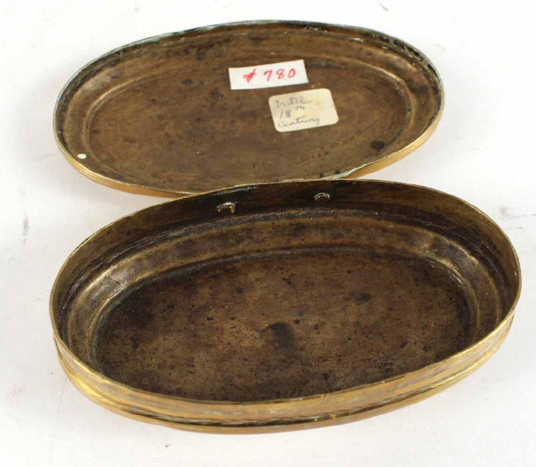 Two Engraved Brass Tobacco Boxes - 5