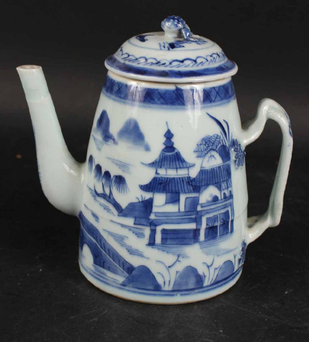 Chinese Canton Porcelain Lighthouse-Form Teapot