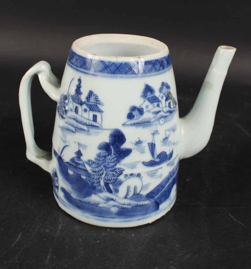 Chinese Canton Porcelain Lighthouse-Form Teapot - 5