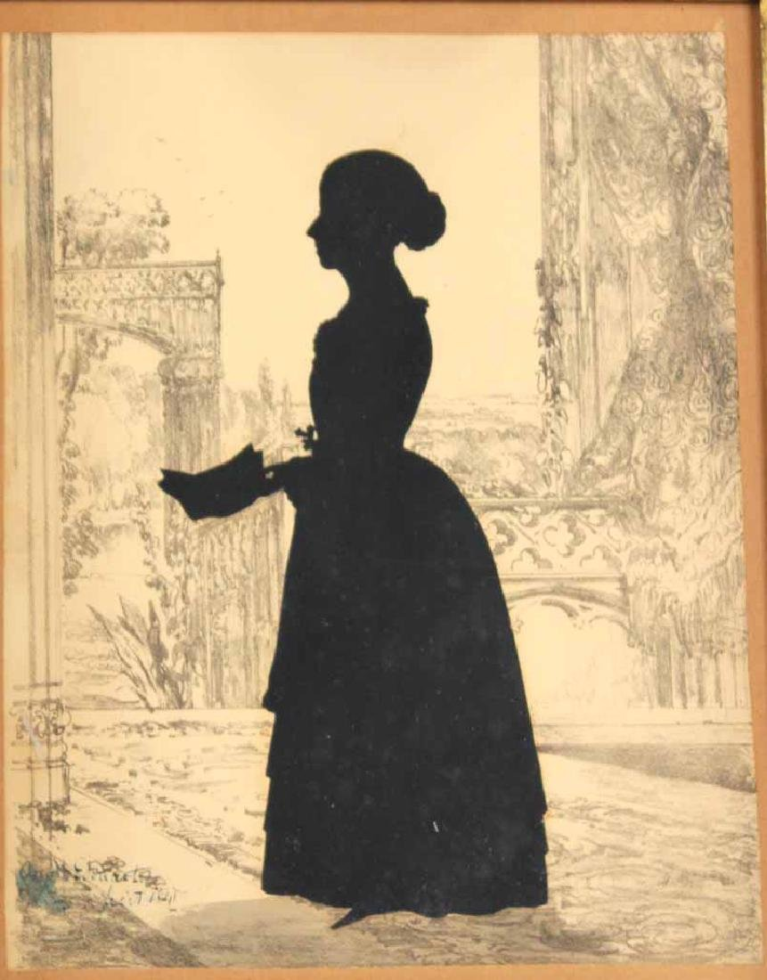 Two Silhouettes Depicting Young Ladies - 2