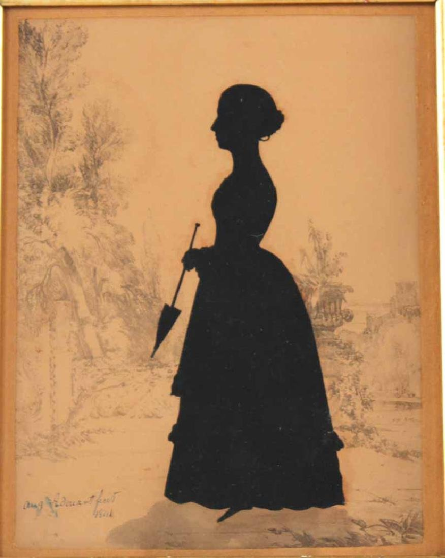 Two Silhouettes Depicting Young Ladies - 3