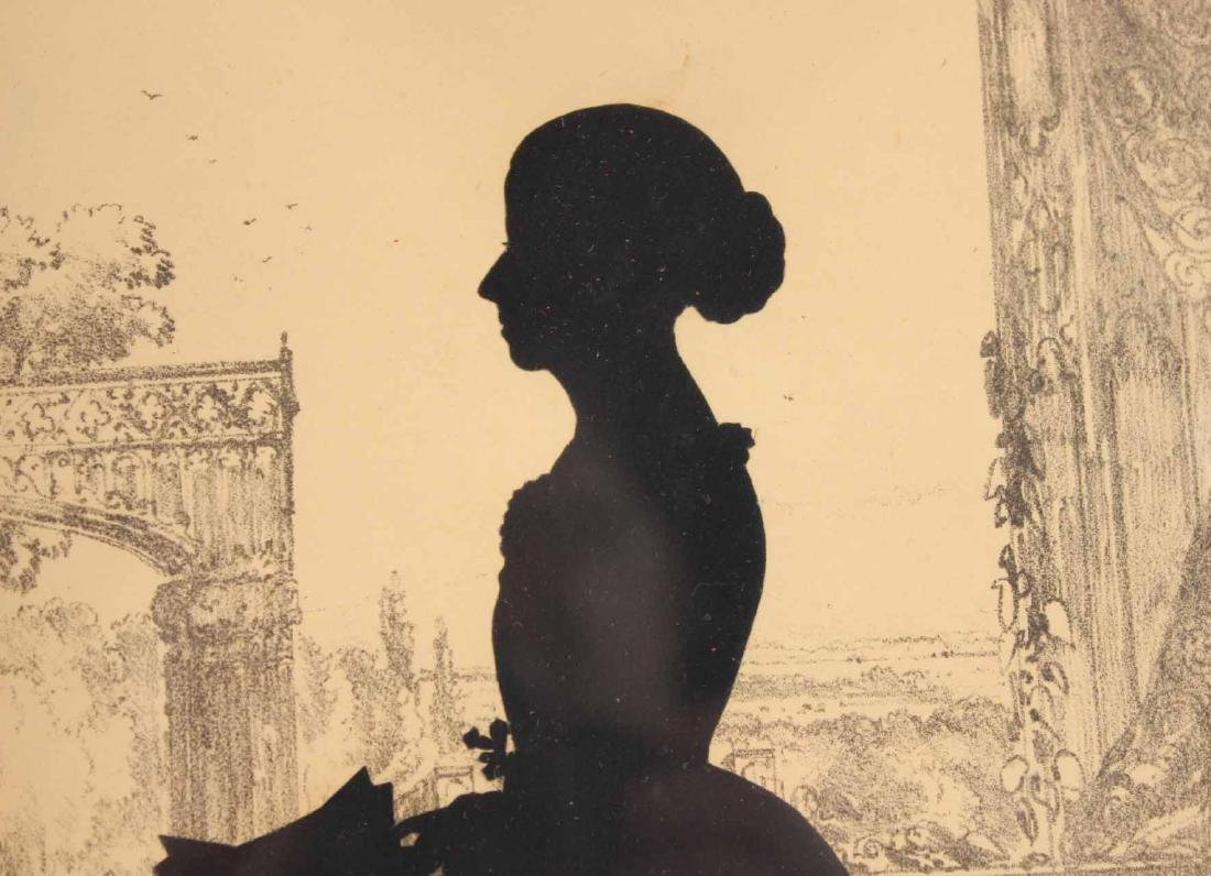 Two Silhouettes Depicting Young Ladies - 5